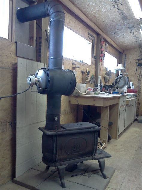 wood stove pipe fan woodstove heat exchanger building the circulation fan