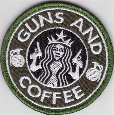 Motivācijas uzšuve GUNS AND COFFEE (ID295) - Militaria.LV