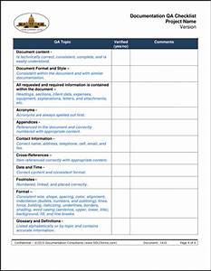 quality checklist template excel calendar template excel With document quality checklist