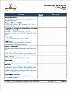 quality checklist template excel calendar template excel With document quality checklist template