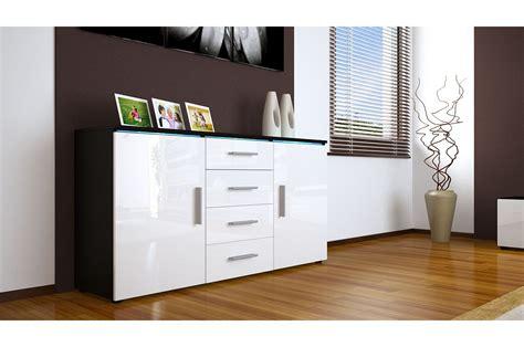 buffet bahut design 139cm 2 portes 4 tiroirs 12 coloris