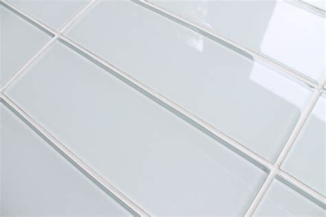 white glass subway tile snow white 4x12 glass subway tiles rocky point tile