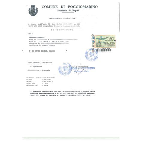 comune di teramo ufficio anagrafe certificato di stato libero