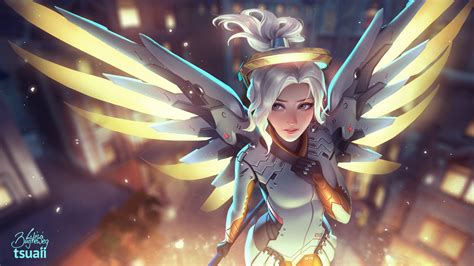 Mercy Overwatch Artwork, Hd Games, 4k Wallpapers, Images