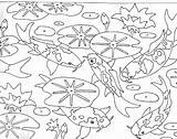 Pond Coloring Pages Koi Fish Drawing Colouring Garden Template Ponds Realistic Paul Sketch Getdrawings Community Urban Underwater Patterns sketch template