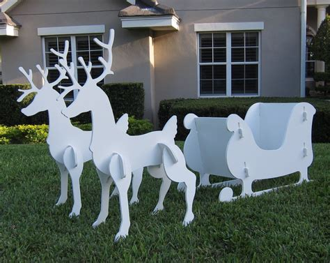 Weihnachtsdekoration Schlitten by Santa Sleigh Reindeer Outdoor Yard Decoration New