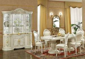 Captain Chairs For Dining Room Table by Ivory Italian Classic Dining Set