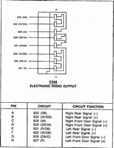 1995 Mercury Tracer Radio Wiring Diagram