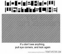 Funny Optical Illusion...Funny Optical Illusions For Adults