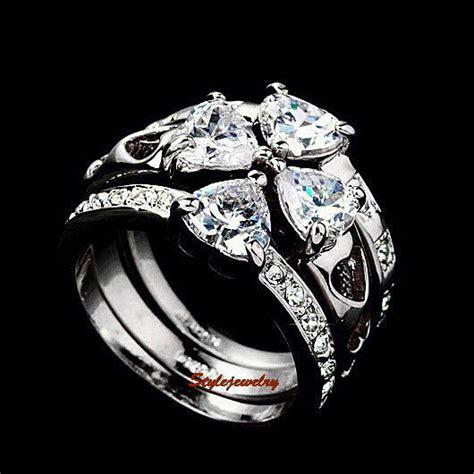made with swarovski crystal four leaf clover wedding engagement ring r102 ebay