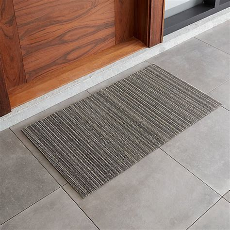 chilewich  grey striped doormat reviews crate