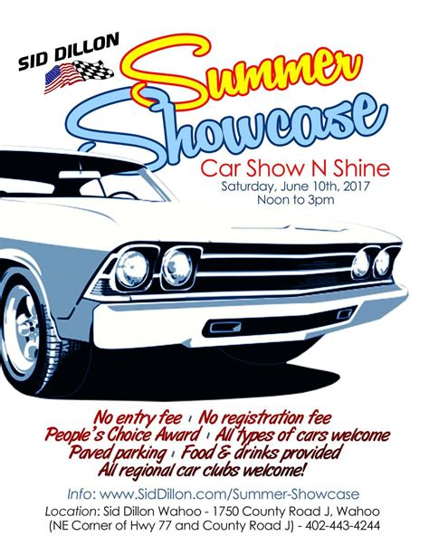 summer showcase auto show  shine  sid dillon wahoo