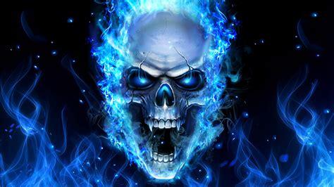 skull  flame wallpaper  images