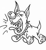 Barking Dog Coloring Loud Drawing Mad Luna Dogs Getdrawings sketch template