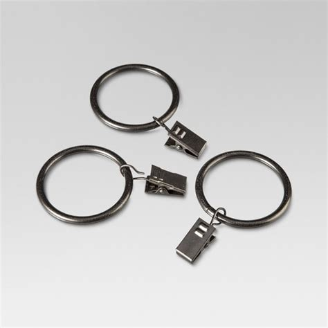 Curtain Clip Rings Set  Oil Rubbed Bronze Threshold