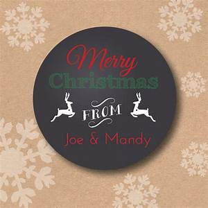 personalized chalkboard art style christmas sticker tags With custom chalkboard stickers
