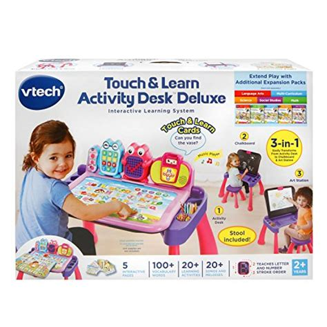 vtech touch and learn activity desk pink vtech touch and learn activity desk deluxe pink new ebay