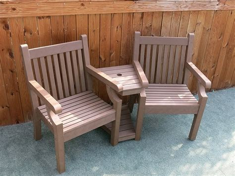 winawood love seat brown composite wood effect