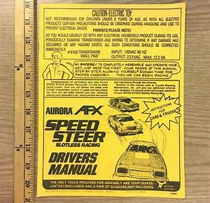 11pg 1980 Aurora Afx Speedsteer Slotless Ho Slot Car