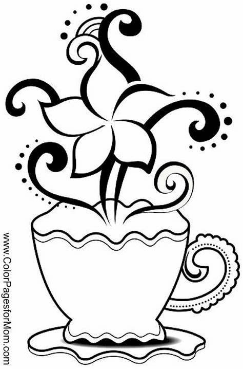Either way, they are all totally free! Coloring pages for adults - coffee coloring page 20