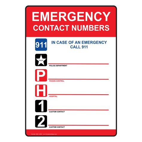cal osha phone number emergency contact number sign pictures to pin on