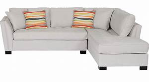 129999 calvin heights platinum 2 pc sectional right for Olympian platinum 2pc sectional sofa dimensions