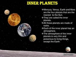 Inner Planets Fact Sheet - Pics about space