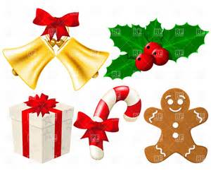 christmas decorations clipart happy holidays