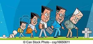 Clipart of Life - Human growth from the conception to the ...