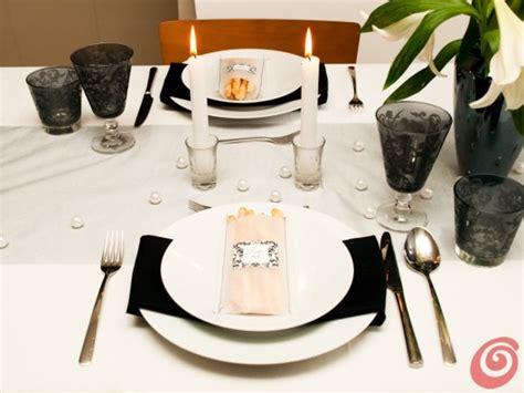 tavola apparecchiata per matrimonio la mise en place in bianco e nero casa e trend