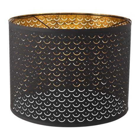 NYMÖ Lamp shade Black/brass colour 44 cm   IKEA