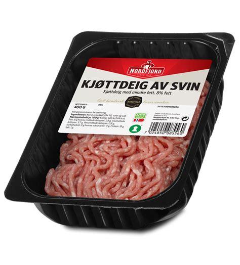 Kjøttdeig svin 400gr 8% - Nordfjord Kjøtt AS