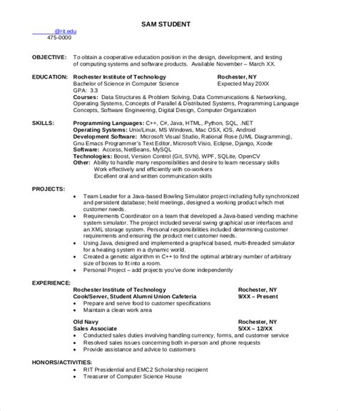 8 sle computer science resumes sle templates