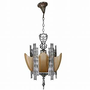 Art deco chandelier at stdibs
