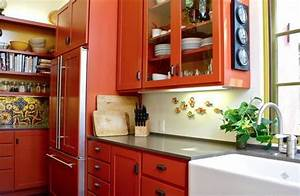 burnt orange dream kitchen pinterest With kitchen cabinets lowes with orange and turquoise wall art
