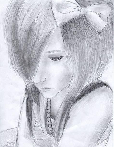 Sad Emo Girl Crying Drawing Mungfali
