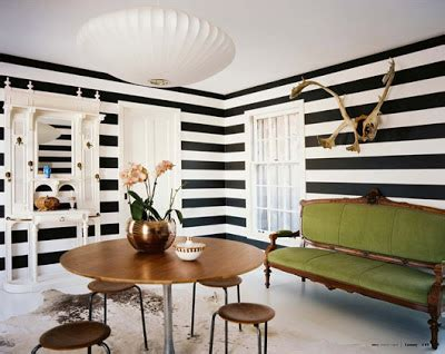 Green Horizontal Striped Curtains by Lush Fab Glam Blogazine Black And White Stripes From The