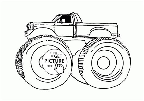 Monster Machine Coloring Page For Kids, Transportation