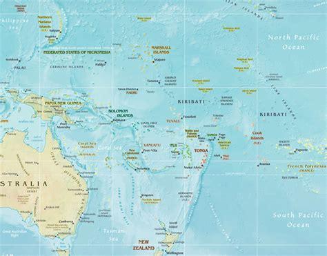 zealand  australia map toursmapscom