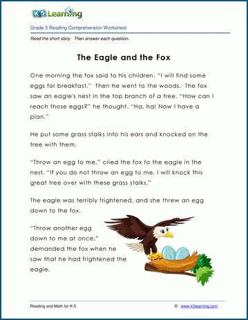 eagle   fox grade  childrens fable  learning