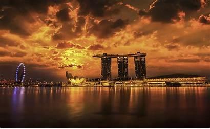 Singapore Wallpapers Marina Bay Sands Background Sunset