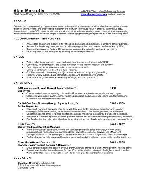 sle resume for telemarketing customer service strong headline customer service resume