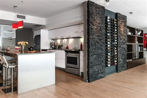 cuisine moderne avec bar un cellier dans la cuisine le luxe chez soi le site