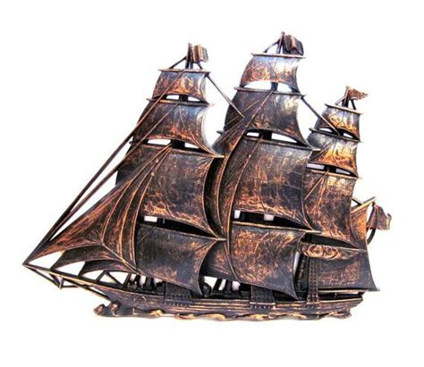 Decorating your outdoor walls will make time spent in your al fresco living space even more inviting. Vintage Syroco Ship Wall Hanging | Vintage, Sailboat design, Wall hanging