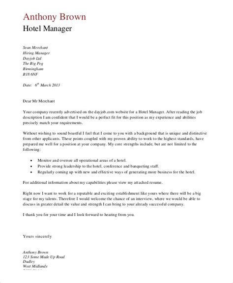 job application letters  manager  word