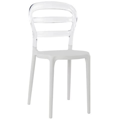 chaise plastique blanche chaise design baro blanche transparente en polycarbonate