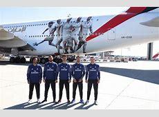 Emirates presenta su avión A380 dedicado al Real Madrid