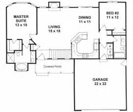 two bedroom home plans plan 1179 ranch style small house plan 2 bedroom split