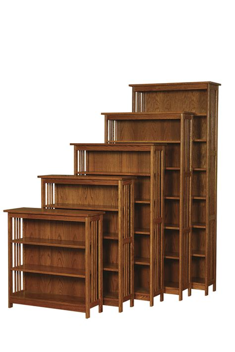 Bookcase Mission Style by 24 Quot W Country Mission Bookcase Amish Furniture