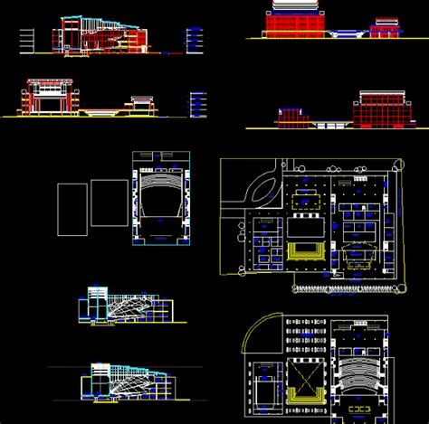 auditorium hall dwg block  autocad designs cad